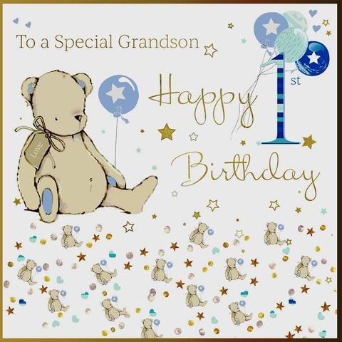 Grandson 1st Birthday Card 1st Birthday Cards 30th Birthday Cards Birthday Cards