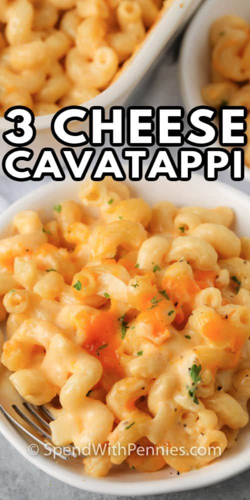 3 Cheese Cavatappi Is A Cheesy Creamy Pasta Dish That Is Comforting And Satisfying It S A Perfect Option Fo Pasta Dishes Easy Dinner Recipes Cavatappi Recipe
