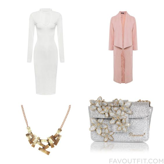 Style Wish List With Dress Trench Coat Dsquared2 Clutch And Druzy Jewelry From December 2015 #outfit #look