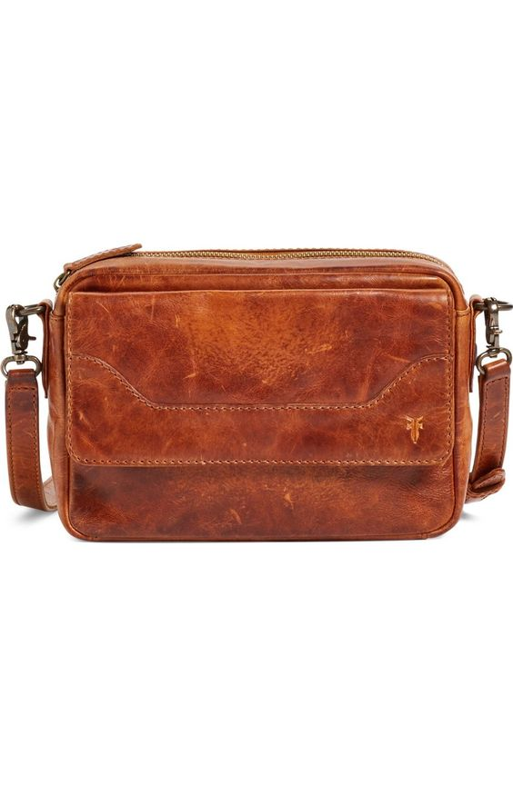 Frye Melissa camera bag in Cognac