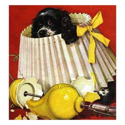 Cocker Spaniel, Vintage Art Posters and Prints at Art.com: