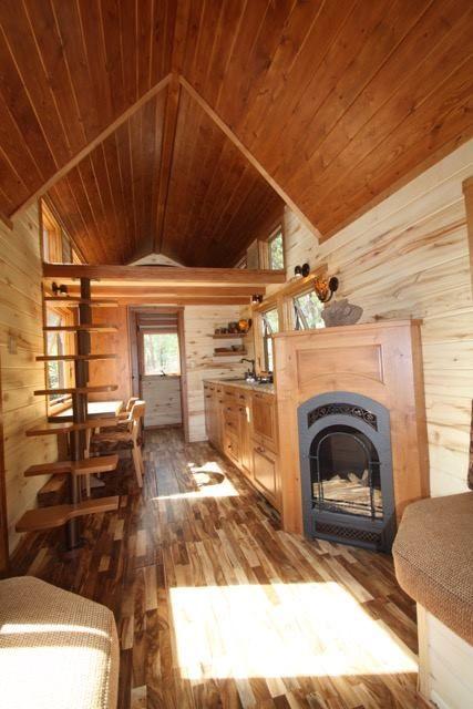 Love The Fireplace Tiny House