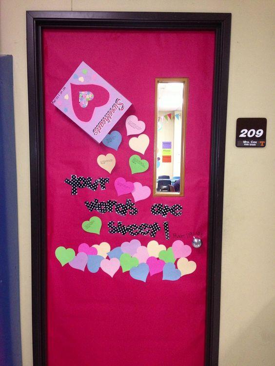 Christian Preschool Valentine Door Decorations Valentines Day Door