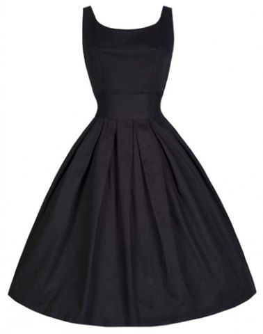 Vintage Scoop Neck Solid Color Large Hem Sleeveless Dress For Women Vintage Dresses   RoseGal.com Mobile