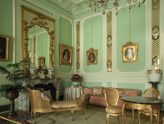 Pless Palace - the Green Parlour - Schloss Pleß – Wikipedia – Foto Marcin Szala