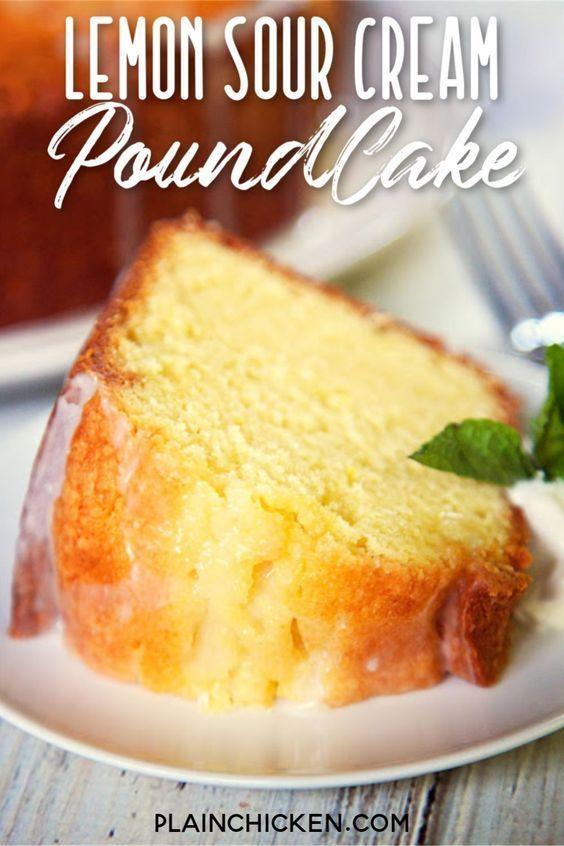Lemon Sour Cream Pound Cake In 2020 Yummy Cakes Lemon Recipes Lemon Desserts