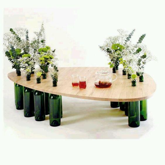 muebles con botella botellas recicladas reciclando botellas botellas