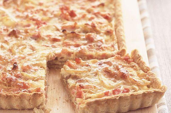 Smoked bacon and onion tart recipe - goodtoknow