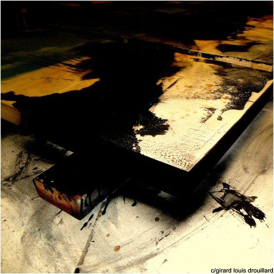 mixed-media painting  'STUDIO SUMI' c/girard louis drouillard