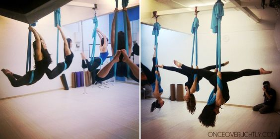Fly Yoga: Combining yoga with aerial arts.