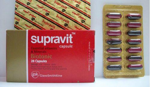 سوبرافيت كبسولات فيتامينات ومعادن أساسية Supravit Capsule Capsule Vitamins