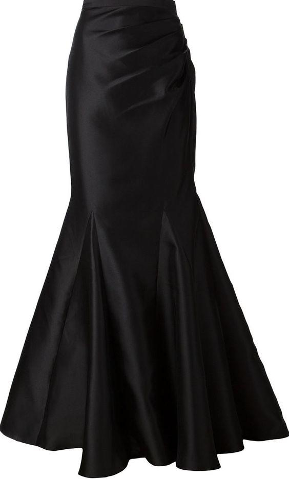 black fishtail maxi skirt <3...Love fish tail or mermaid skirts -Mari