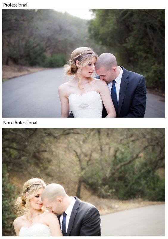 Capturing the happy couple on their big day and the difference between a professional and non-professional photographer!