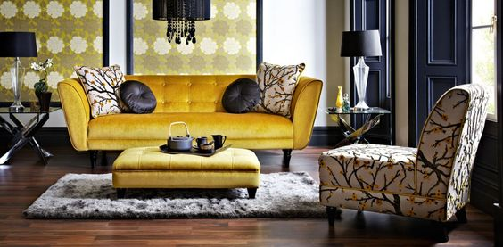 Sofas Mustard And Gold Sofa On Pinterest