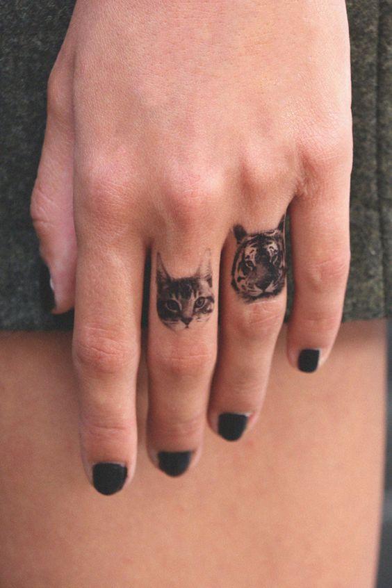 Tatoo - cat tiger tattoo - Black