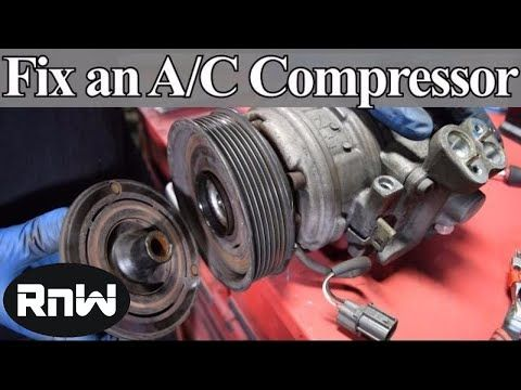 How To Diagnose And Replace An A C Compressor Coil Clutch And Bearing On Your Car Youtube Auto Repair Automotive Repair Car Mechanic