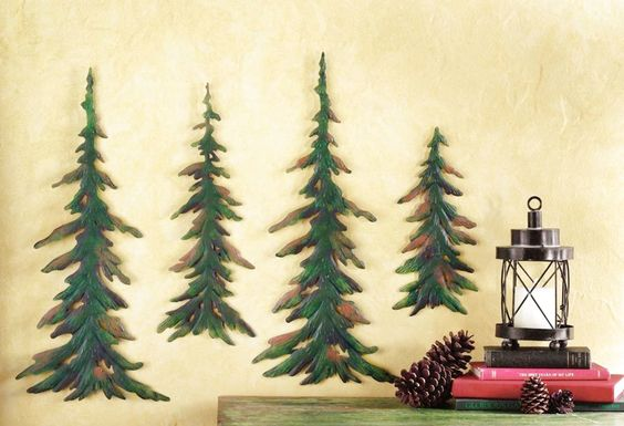 Evergreen Pine Tree Metal Wall Decor Set, by Collections Etc $14.99 ...