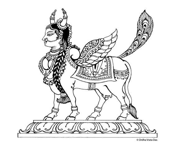 Kamadhenu - divine goddess cow: