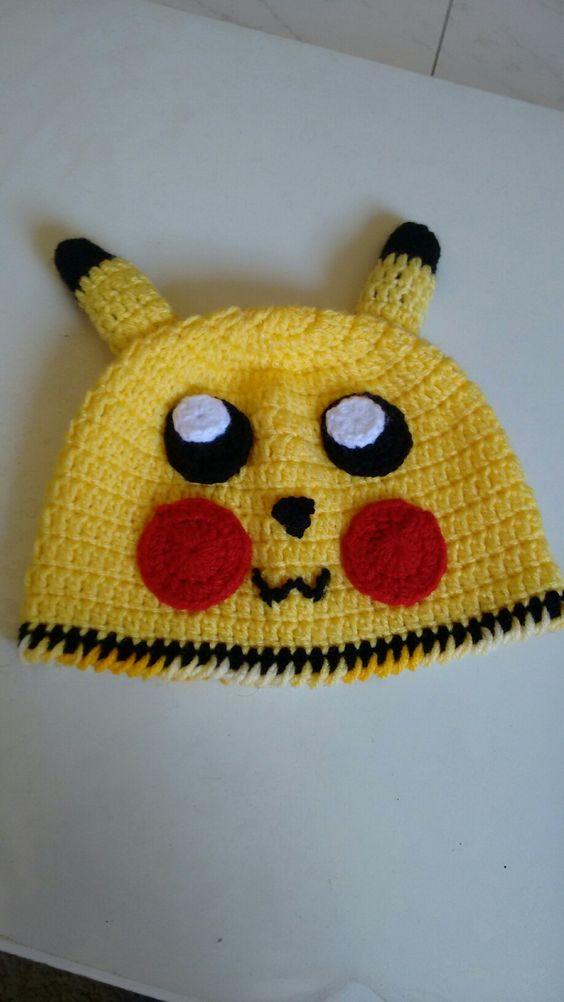 Touca crochê Pikachuu