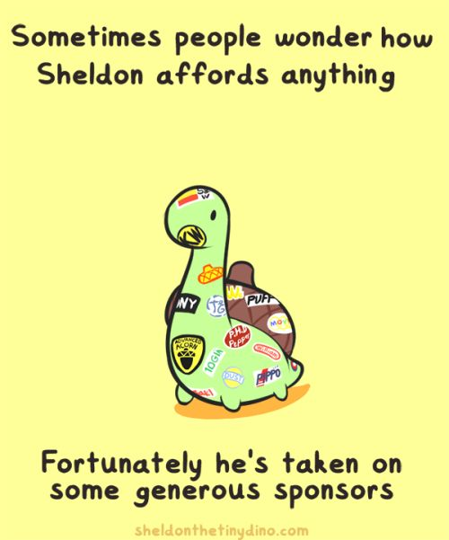 Sheldon the Tiny Dinosaur who Thinks he's a Turtle, , This comic brought to you by Non-prosecutable...