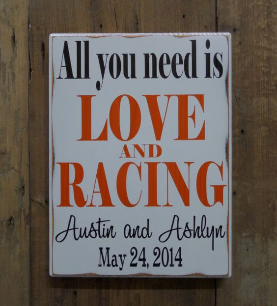 All You Need Is LOVE And RACING Personalized Wedding By