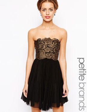 Enlarge Lipstick Boutique Petite Lace Overlay Prom Dress, $114 ...