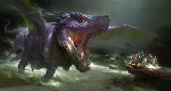 Dungeons and Dragons, Ruan Jia on ArtStation at https://www.artstation.com/artwork/2Wgba