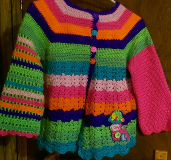 Pattern by Vendulka at Magic with Hooks and Needles. I made this for my granddaughter for her first day of kindergarten.