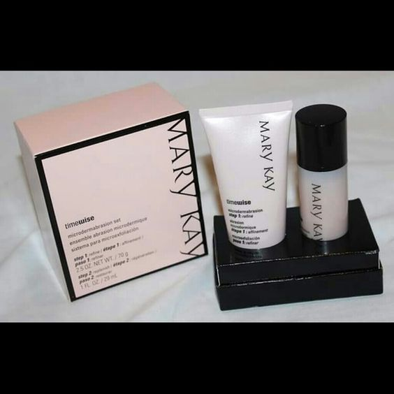 Mary Kay Timewise Microdermabrasion Set Mary Kay Timewise Microdermabrasion Set polishes your skin & reduces the size of your pores.  This set includes both steps (Step 1: Refine 2.5 oz. & Step 2: Replenish 1 fl. oz.).  New in box & never used! This is a $55 value! Mary Kay Other