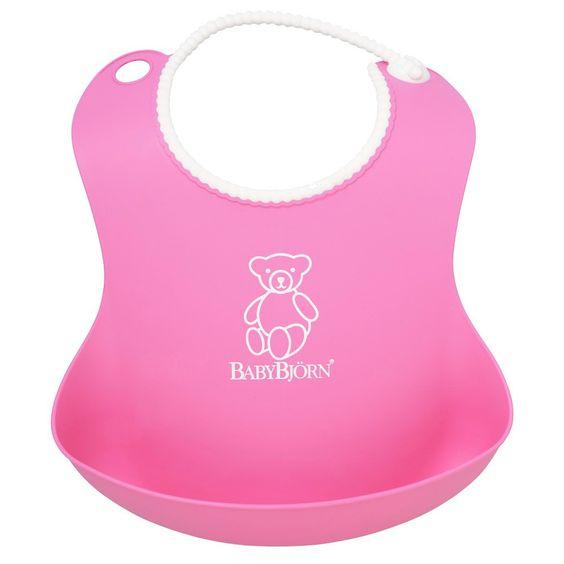Babybjörn Soft Baby Bib - Pink