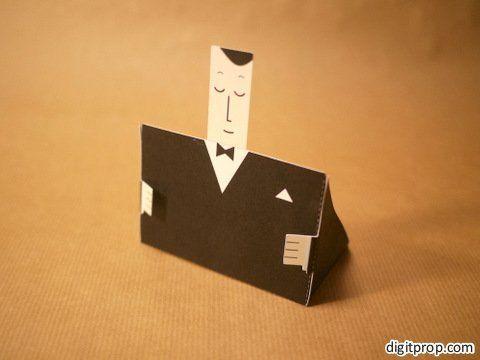 Tutorial for the business card holder | Digitprop - Paper design