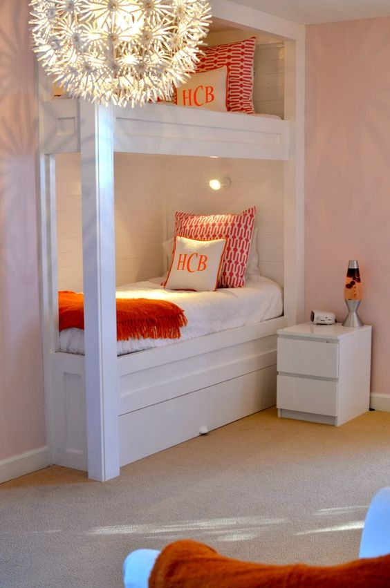 Built in bunk for guest room