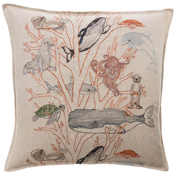 Coral & Tusk - Decorative Embellished Throw Pillow - Coral Forest