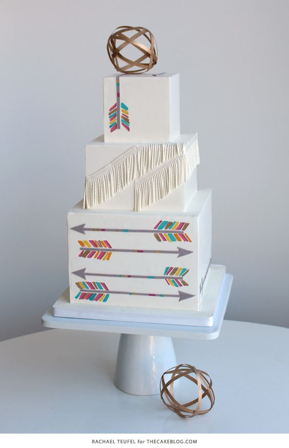 Arrow Cake | Finding Inspiration in Everyday Life | by Rachael Teufel for TheCakeBlog.com: