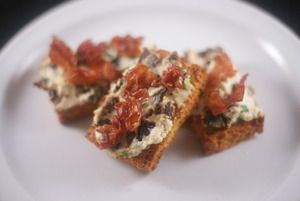 Goat Cheese, Date, and Prosciutto Crostini | Udi's® Gluten Free Bread