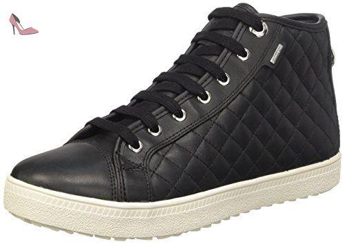 New Club A, Sneakers Hautes femme, Noir (C9999), 39 EUGeox