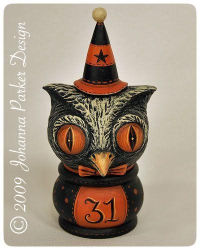Johanna Parker ~ owl kettle cup: