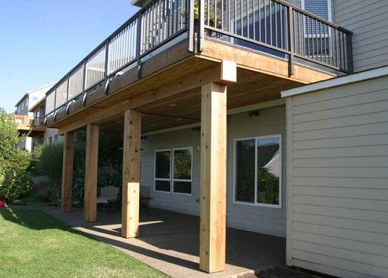 Building a second floor deck outdoor floor system for Second floor deck ideas