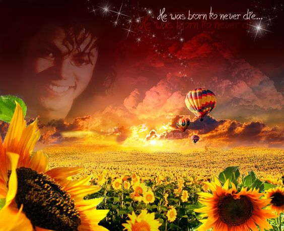 Sunflowers, balloons and Michael