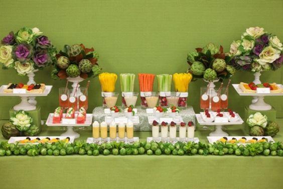 Buffet leckeres gesundes Essen Party Obst