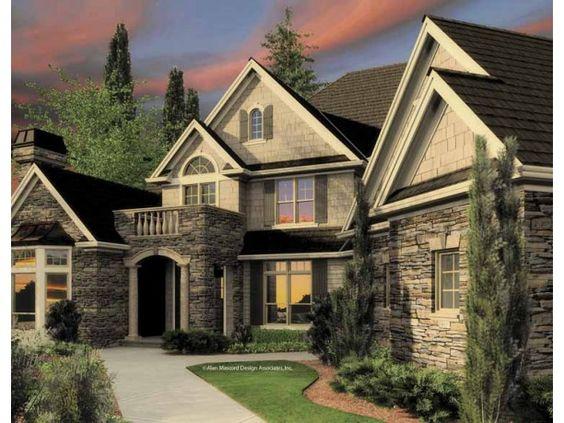 New american european house plans