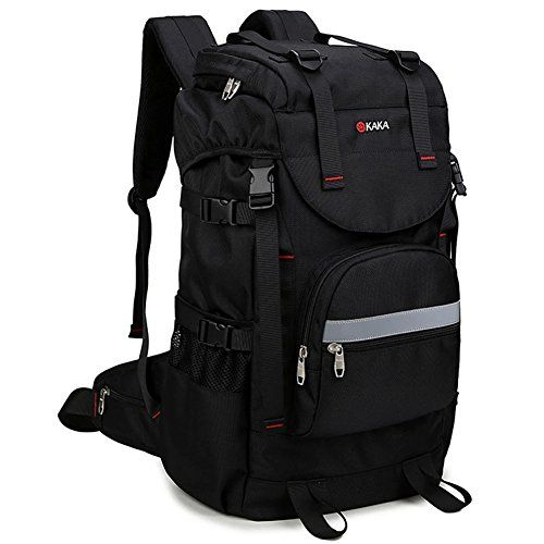 "KAKA 15.6 ""Mountain Laptop Backpack,Waterproof Outdoor Sports Laptop Backpack,Traveling Camping Hiking Bag,For Men Women Fits Most 15.6 inches Laptop/Macbook Pro/Surface Pro/ipad,Black - The KAKA Laptop Backpack was designed to protect and hold your laptop while on the move. The backpack features multiple storage compartments and features for additional supplies and accessories.When you travel with your computer, there is no need to bring an additional bag or sleeve. The padd"