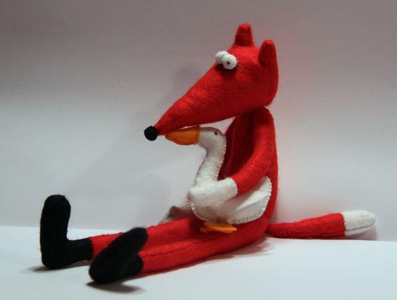Süßer Fuchs mit Gans