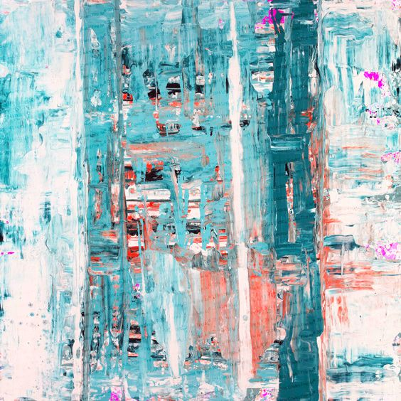 Image of 81 print on stretched canvas- teal coral обои lindsaycowlesfineart.bigcartel.com