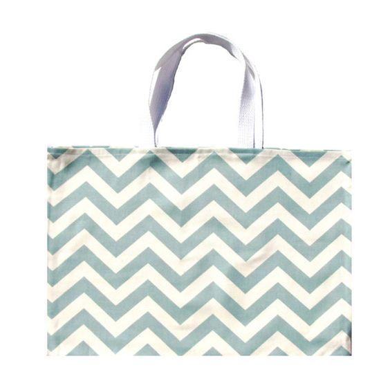 Light  Blue Chevron Tote Bag Blue Shoulder Bag by AnyarwotStyle, $16.00