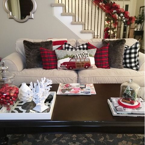 Decking the Halls on a Budget  Affordable Decor, Woody Pillow, Pottery Barn, Christmas, Christmas Decorations, Apothecary Jar, Ornaments, Christmas Cloche