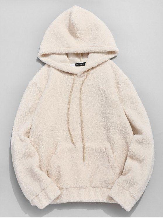 Men Women Hooded Tops Pullover Coat Autumn Faux Fur Teddy Bear Sweatshirt Hoodie