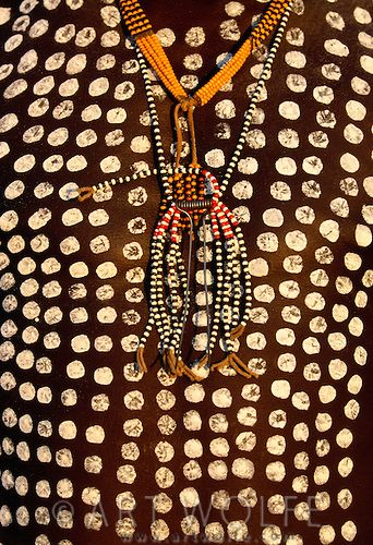 Karo male body painting, Lower Omo River, Ethiopia by Art Wolfe