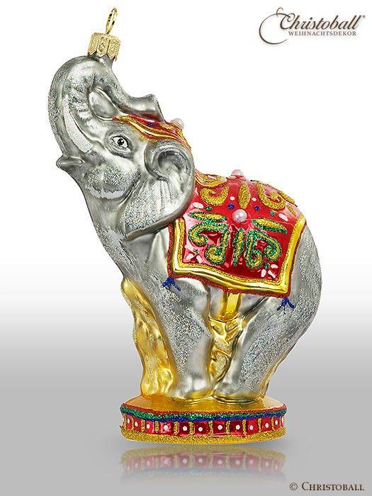 Elephant ornament Christoball Premium Weihnachtskugel Elefant aus dem Morgenland