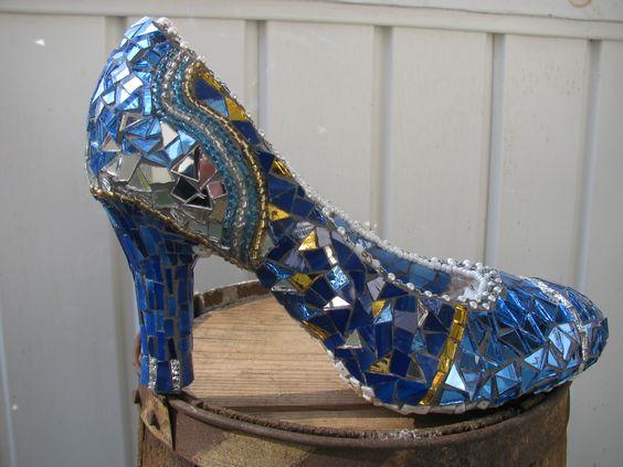 My first mosaic shoe